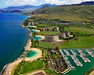 Lagoons of Ko Olina  Top lagoon (Disney & 4 Seasons), 2nd from Top ( Beach Villas ), 3rd from Top (Marriott Beach Club)